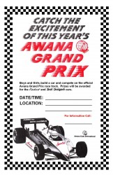 Awana Grand Prix Poster